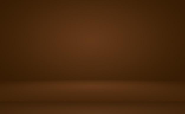 Streszczenie gładkie brązowe ściany z gładkim kolorem gradientu koła