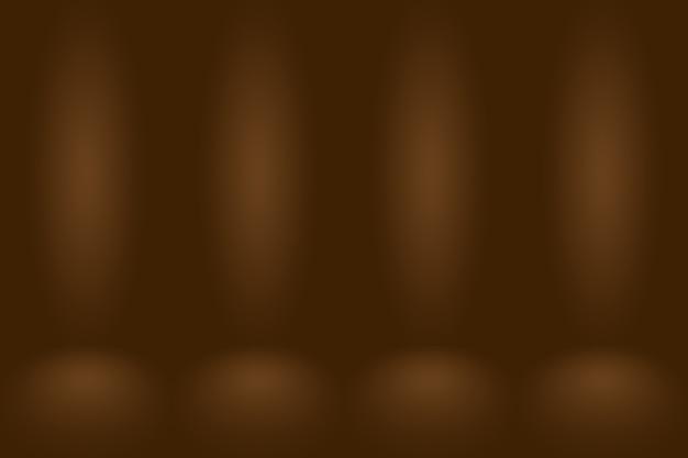 Streszczenie gładkie brązowe tło ściany z gładkim kolorem gradientu koła.