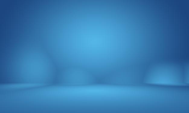 Streszczenie gładkie ciemnoniebieskie z czarną winietą studio dobrze wykorzysta jako tłoraport biznesowydigitalweb...