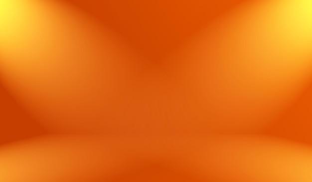 Streszczenie gładkie pomarańczowe tło projekt układu, studio, pokój, szablon sieci web, raport biznesowy z kolorem gradientu gładkiego koła.