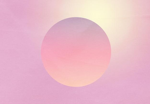 Streszczenie gradientu retro pastelowy kolorowy i okrągły kształt z tłem efektu szumu ziarna, do projektowania produktów i mediów społecznościowych, modny projekt retro vaporwave