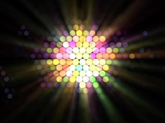 Streszczenie ilustracja efektów świetlnych