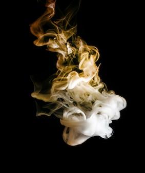 Streszczenie jasny i piękny kolor dymu