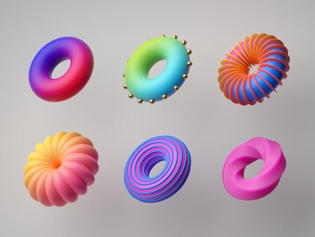 Streszczenie kolorowe kształty geometryczne