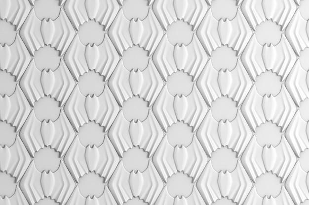 Streszczenie kolorowe tło geometryczne na podstawie siatki sześciokątnej z wizerunkiem nietoperzy