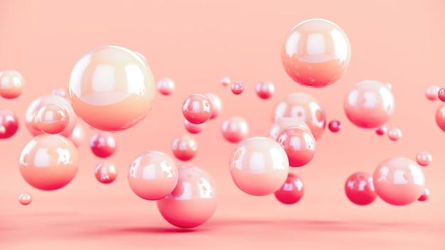 Streszczenie kolorowe tło z kulistymi bąbelkami