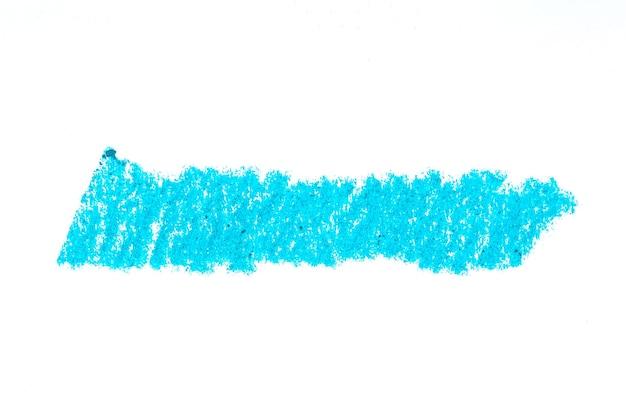 Streszczenie kredka na białym tle. aqua kredka tekstura bazgrołów. woskowa pastelowa plama. to jest narysowana ręka