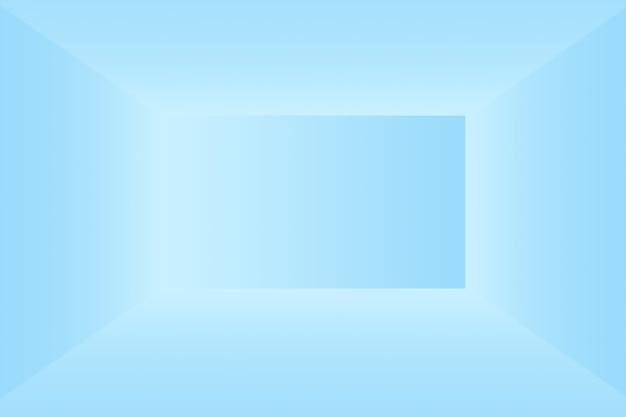 Streszczenie luksusowe gradientowe niebieskie tło gładkie ciemnoniebieskie z czarnym banerem winiety studio