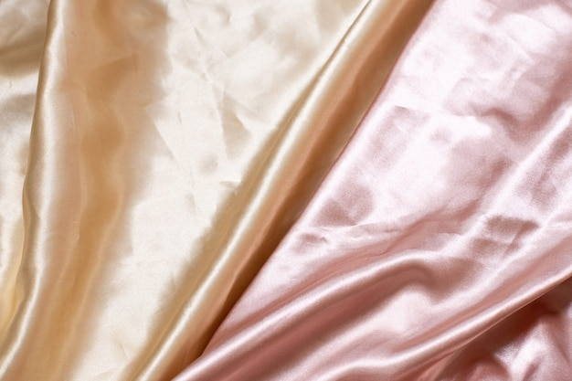 Streszczenie luksusowe tkaniny lub płynna fala lub faliste fałdy grunge jedwabnego materiału satynowego aksamitu lub luksusowe boże narodzenie