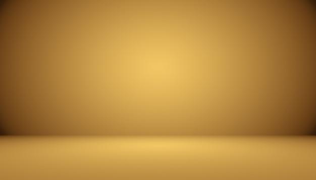 Streszczenie luksusowe złote studio dobrze służy jako tło i prezentacja