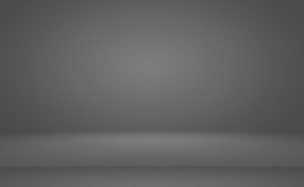 Streszczenie luksusowe zwykłe rozmycie szaro-czarny gradient używany jako tło ściany studyjnej do wyświetlania p...