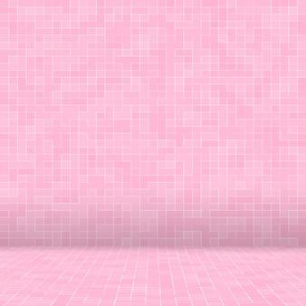 Streszczenie luksusowy słodki pastelowy różowy odcień płytki podłogowe szklane mozaiki wzór