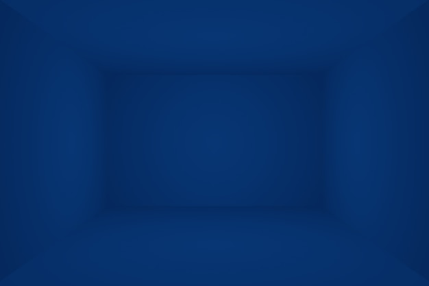 Streszczenie luksusowych gradientu niebieskie tło. gładki granatowy z czarnym banerem winiety studio. pokój studio 3d.