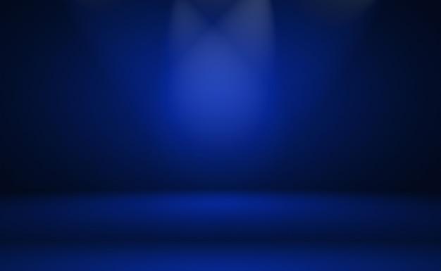 Streszczenie luksusowych gradientu niebieskie tło. gładki granatowy z czarnym winietą studio banner.
