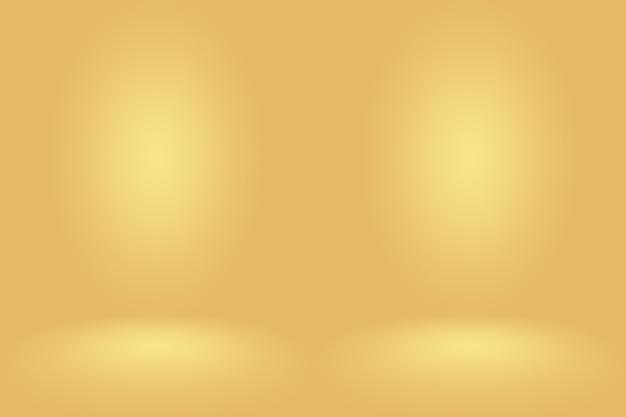Streszczenie makieta gładka pomarańczowy studio gradientowe w tle ściany pokoju.