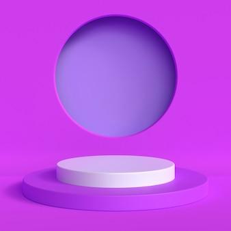 Streszczenie makieta sceny niebieski pastelowy kolor. geometria kształt podium tło dla produktu. renderowanie 3d