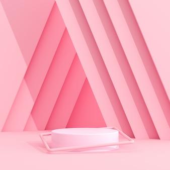 Streszczenie makiety podium geometrii w minimalistycznym stylu.