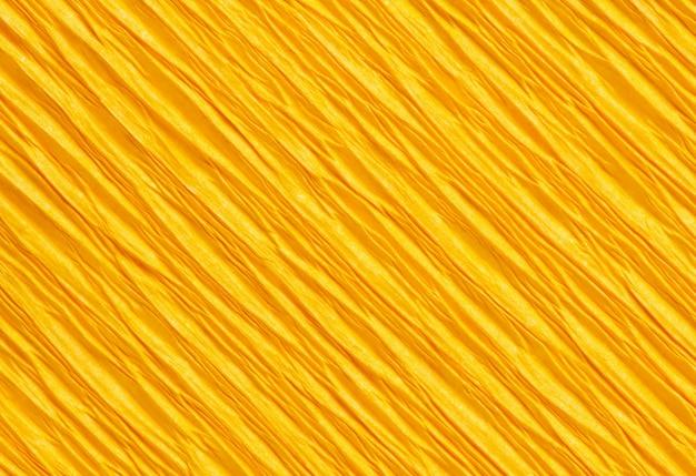 Streszczenie makro żółta linia papieru kolor tekstury tła