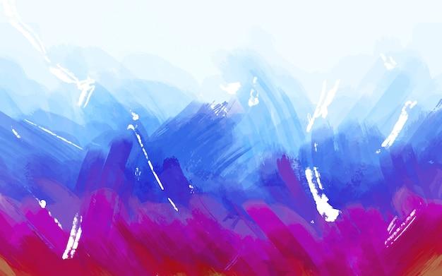 Streszczenie malowane niebieskim tle