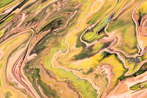 Streszczenie marmurowe wirowe zielone tło diy eksperymentalna sztuka