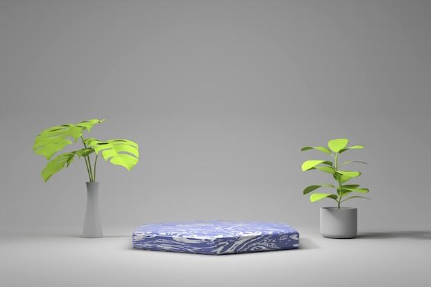 Streszczenie marmurowy etap produktu platformy renderowania 3d