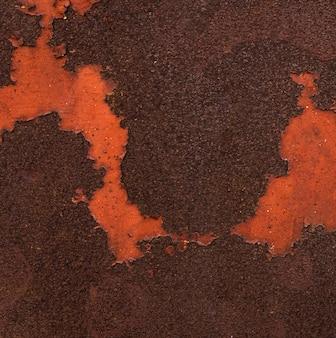 Streszczenie metalicznej powierzchni z rdzą