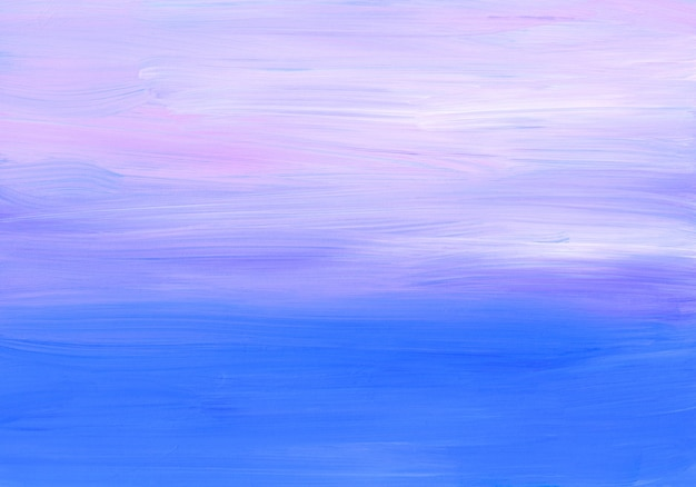 Streszczenie miękkie tło niebieski, fioletowy, różowy i biały. pociągnięcia pędzlem na papierze.