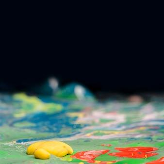 Streszczenie mieszanka akrylowa z bliska
