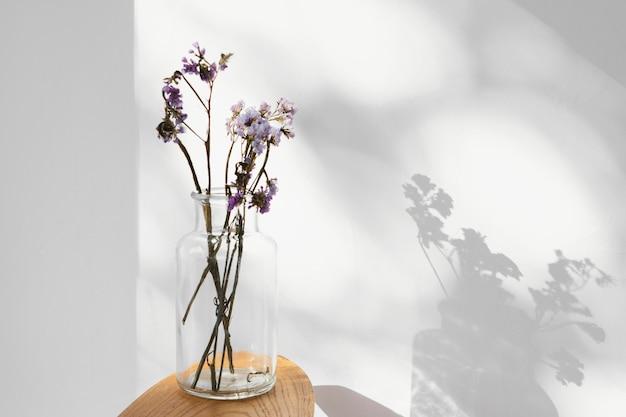 Streszczenie minimalna koncepcja kwiaty i cienie