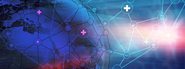 Streszczenie na całym świecie tło opieki zdrowotnej