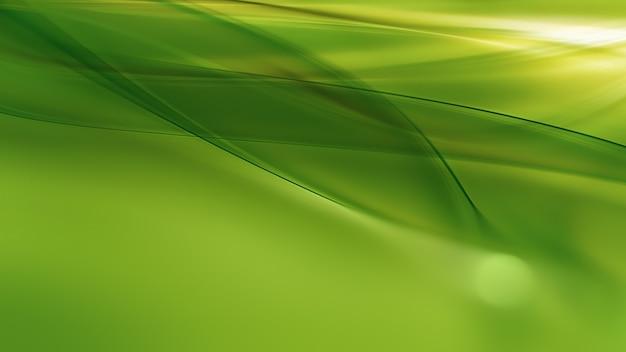 Streszczenie naturalne tło z gładkimi zielonymi liniami