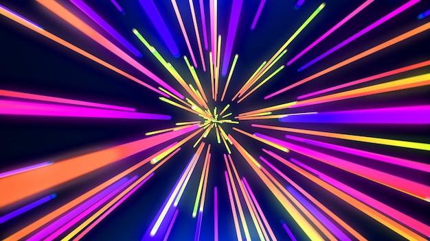 Streszczenie neon tunelu