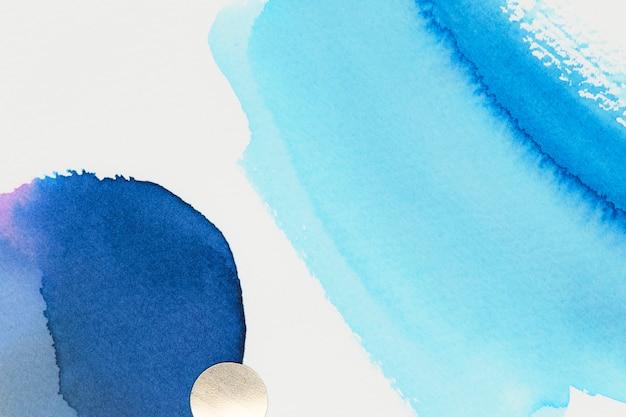 Streszczenie niebieska akwarela biała tapeta