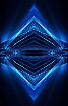 Streszczenie niebieski ciemny neon
