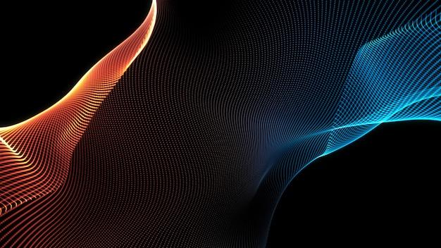 Streszczenie niebieski i czerwony fala tekstura tło