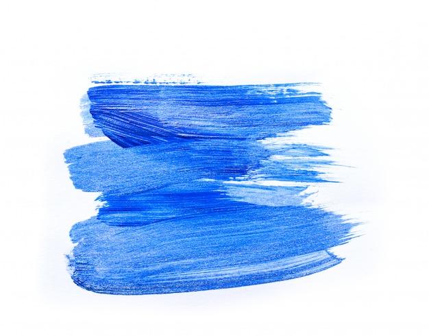 Streszczenie niebieski ręcznie rysowane malarstwo akrylowe tło