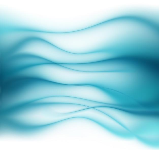 Streszczenie niebieskie tło z gładkimi liniami