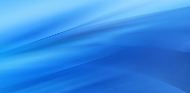 Streszczenie niebieskie tło z gładkimi lśniącymi liniami