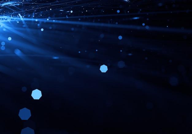 Streszczenie niebieskiego promienie świetlne tapety