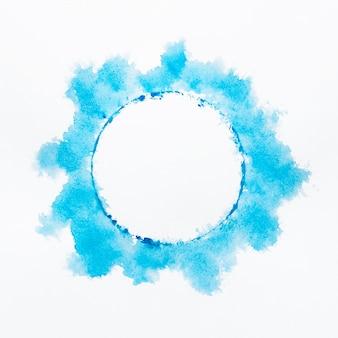 Streszczenie niebieskim kółkiem