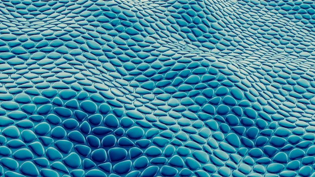 Streszczenie niebieskim, zielonym tle. ilustracja, renderowanie 3d.