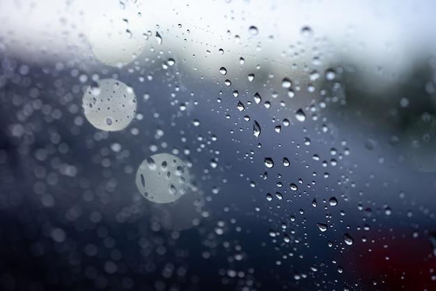 Streszczenie niewyraźne deszcz