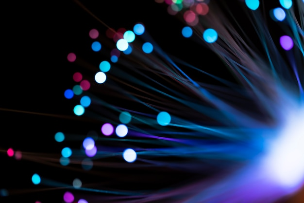 Streszczenie niewyraźne kolorowe plamy światła