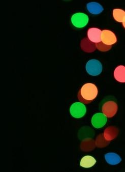 Streszczenie niewyraźne kolorowe podświetlane światła dekoracyjne