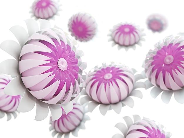 Streszczenie niewyraźne tło kwiatowy. pełne kwitnienie i mandarynka jak w środku