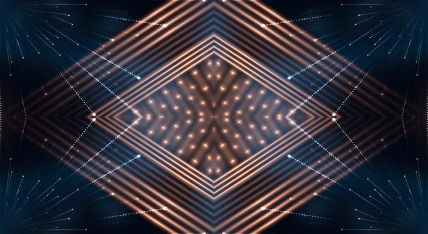 Streszczenie nowoczesne ciemne tło z promieniami i liniami