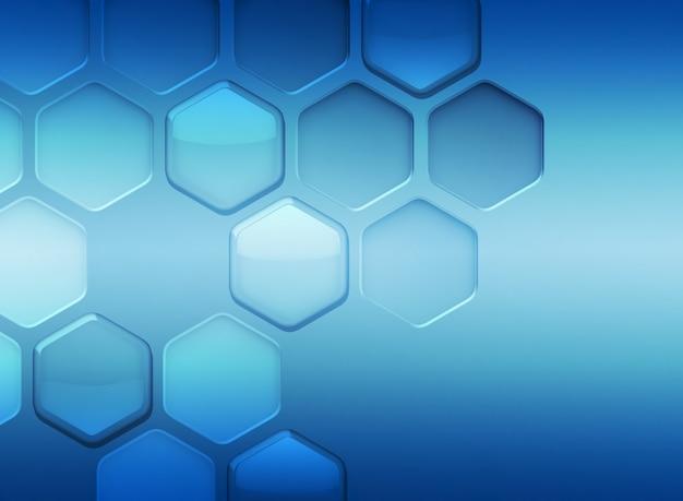 Streszczenie nowoczesne niebieskie tło z sześciokątami