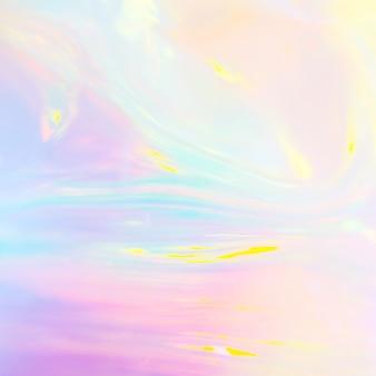 Streszczenie opalizujący obraz holograficznego tworzywa sztucznego w pastelowych kolorach