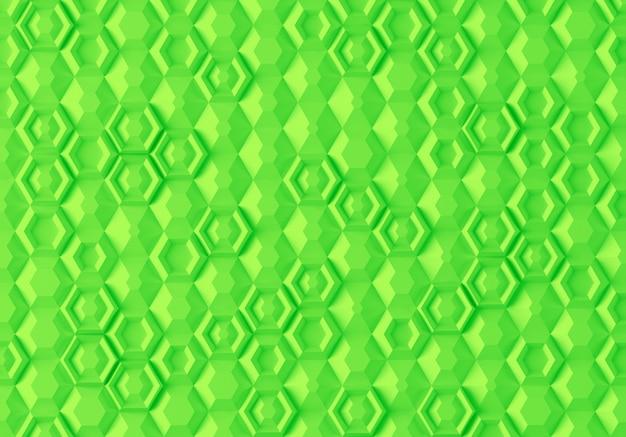 Streszczenie parametryczna cyfrowa tekstura oparta na sześciokątnej siatce o różnej objętości i wewnętrznym wzorze