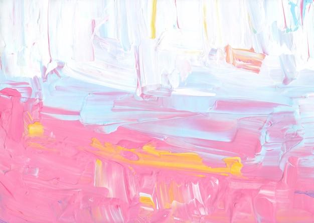 Streszczenie pastelowe kolorowe tło. różowy, żółty, niebieski, biały